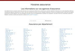 horaire assurances